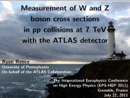 Measurement of W and Z boson cross sections in pp ... - HEP