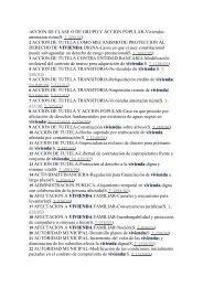 ACCION DE CLASE O DE GRUPO Y ACCION POPULAR-Viviendas ...