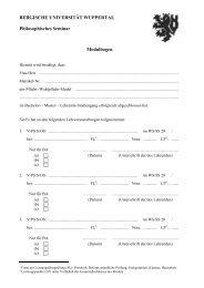 Modulbogen - Philosophisches Seminar - Bergische Universität ...