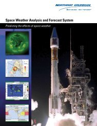 Space Weather Analysis and Forecast System - Northrop Grumman ...