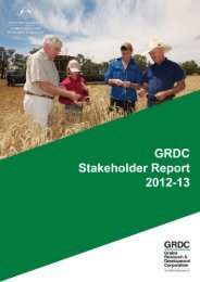 GRDC Stakeholder Report 2012-13 - Grains Research ...