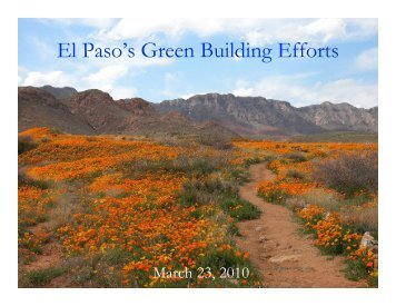 El Paso - ICLEI Local Governments for Sustainability USA