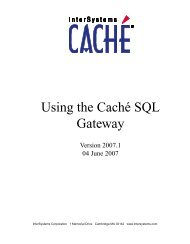 Using the Caché SQL Gateway - InterSystems Documentation