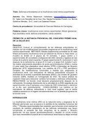 Defensas antioxidantes en la insuficiencia renal crónica experimental.