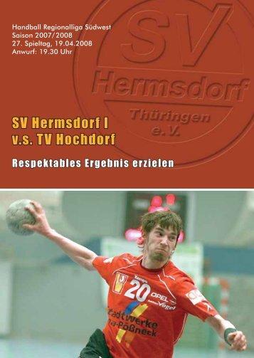 Programmheft 19.04.2008 - Handball Marketing Hermsdorf GmbH