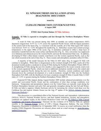 enso - Climate Prediction Center - NOAA