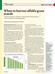 When to harvest alfalfa-grass stands - Department of Animal ...