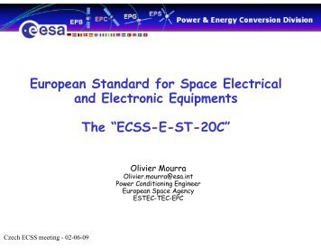 European Standard for Space Electrical and Electronic Equipments ...