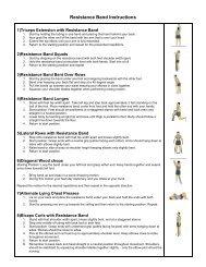 Instructions pour bande élastique - Amway