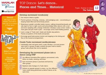 TOP Dance: Let's dance... Places and Times ... - Youth Sport Trust