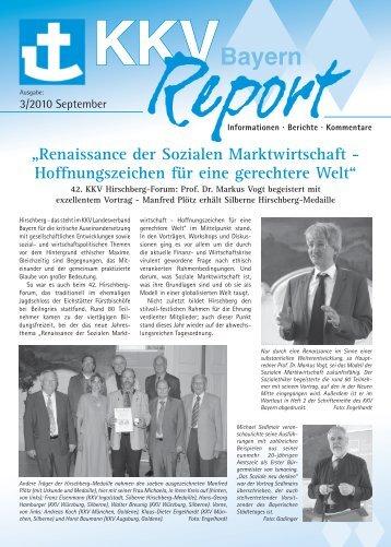 KKV-Bayern-Report, Ausgabe 3/2010