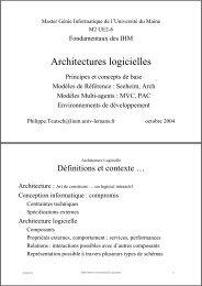 Architectures logicielles - Université du Maine