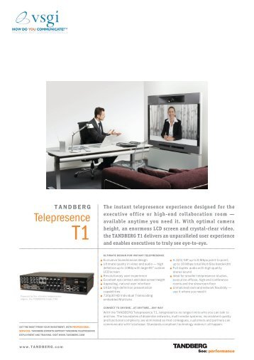 Telepresence T1 - Advantage Video by GCI