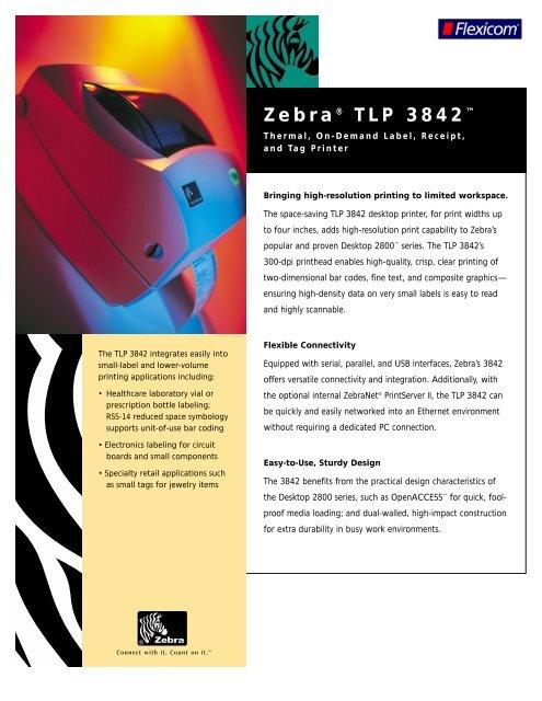 Zebra® TLP 3842™ - JUTA-Soft