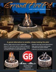 A grand alternative to smaller, cheap looking fire pits! - Golden Blount