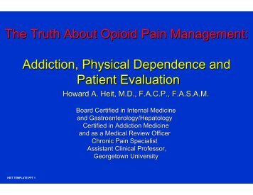 The Truth About Opioid Pain Management - The Canadian Pain ...