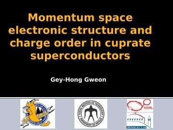 Momentum space electronic structure and charge order in cuprate ...
