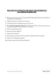 Domanda di trasferimento - Ordine degli Ingegneri della Provincia di ...