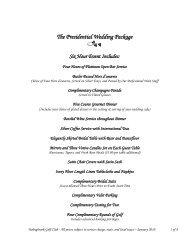 The Presidential Wedding Package - Bolingbrook Golf Club