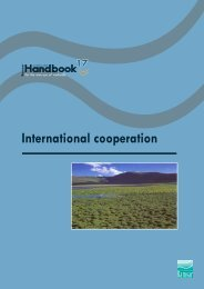 Ramsar handbook - international cooperation - Earthmind