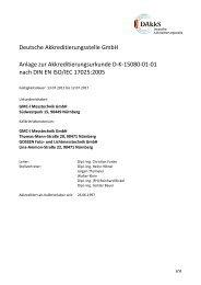 Deutsche Akkreditierungsstelle GmbH Anlage zur ... - DKD