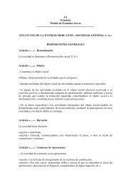 SA Estatutos Modelo de Estatutos breves ...