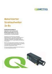 Manual Motorisierter Strahlaufweiter 2012-9 deutsch - Qioptiq Q-Shop