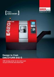 Design to Cost. EMCOTURN E42 G - Emco Maier GmbH