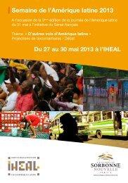 Semaine de l'Amérique latine 2013 - Iheal