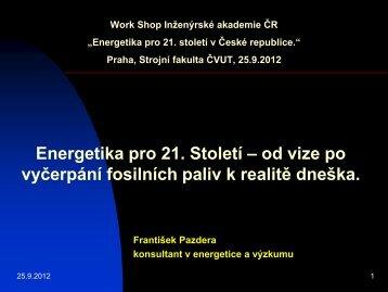 Ing. František Pazdera, CSc. - Fakulta strojní ČVUT v Praze