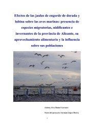 Efectos de las jaulas de engorde de dorada y lubina sobre las aves ...