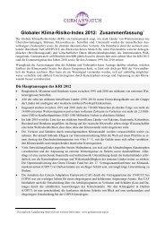 Globaler Klima-Risiko-Index 2012. Deutsche ... - Germanwatch