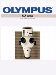 Olympus SZ Series Zoom Stereo Microscopes catalogue
