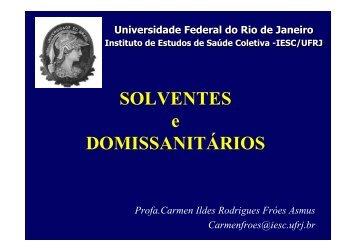 domissanitarios - Instituto de Estudos em Saúde Coletiva - IESC/UFRJ