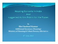 Housing Scenario in India and suggested Action Points for the States