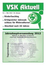 Jahreshauptversammlung 2012 - VSK Osterholz