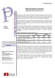 Indici dei prezzi al consumo - Istat.it