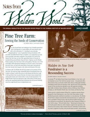 2007 WWP Annual Newsletter - Walden Woods Project