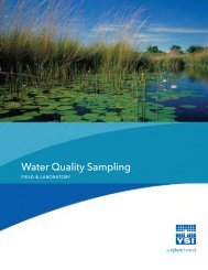 Water Quality Sampling for Field and Laboratory - YSI.com