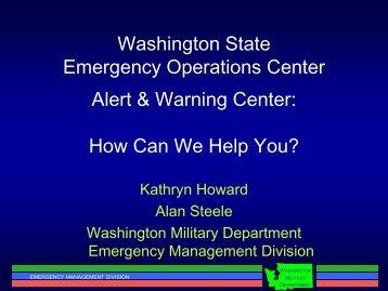 Washington State Military Department Emergency Management ...