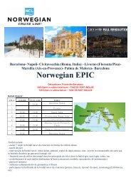 Barcelona Norwegian EPIC - Parteneri – Perfect Tour