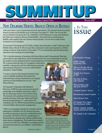 new delaware/hertel branch opens in buffalo - The Summit Federal ...