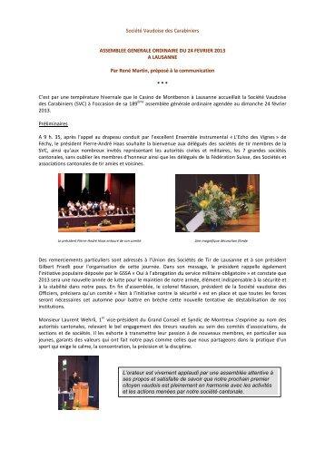 Société Vaudoise des Carabiniers - Les Tireurs Vaudois
