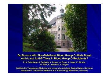 Presentation-Seltene Blutgruppen-Scharberg - Arbeitsgruppe ...