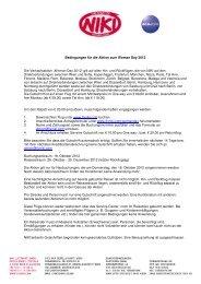Bedingungen für die Aktion zum Woman Day 2012 Die ... - FlyNiki