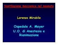 Ventilazione meccanica nel neonato - Dott. Lorenzo Mirabile