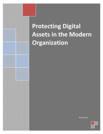 Protecting Digital Assets in the Modern Organization - WinEncrypt