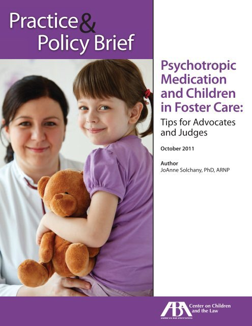 Psychotropic Medication and Children in Foster Care - American Bar ...