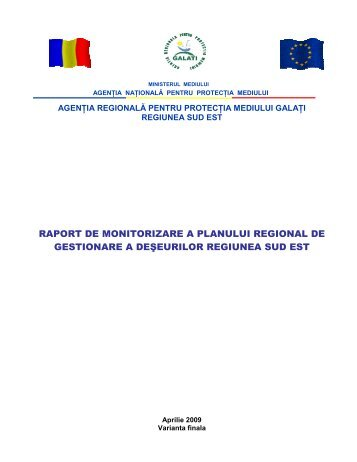raport de monitorizare a planului regional de gestionare a deseurilor ...