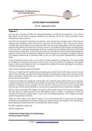 LETTER FROM THE PRESIDENT N° 53 - September ... - sportcentric